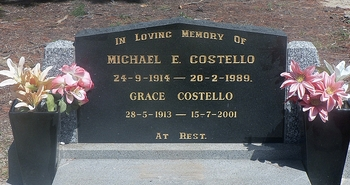 Michael Edward COSTELLO - Winton Cemetery