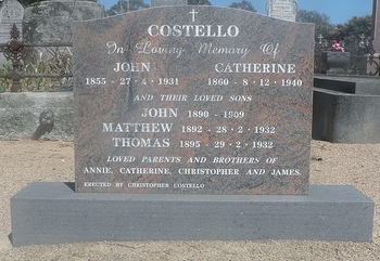 Matthew COSTELLO - Winton Cemetery